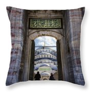 Enter Throw Pillow by Joan Carroll