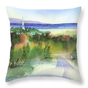 Entering Sandwich Throw Pillow by Joseph Gallant