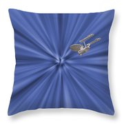 Entering Warp Speed Throw Pillow by Peggie Strachan