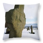 Errigal Keerouge Cross, St Kierans Throw Pillow by The Irish Image Collection
