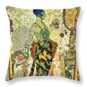 Essence en Rose Throw Pillow by Mo T