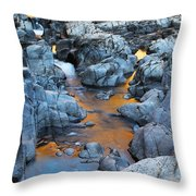Evening Light On The Black River At Johnsons Shut Ins State Park IIi Throw Pillow by Greg Matchick