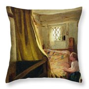 Evening Prayer  Throw Pillow by John Bagnold Burgess