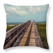 Evening Walk To The Beach Throw Pillow by Toni Hopper
