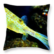 Exotic Fish Throw Pillow by Pravine Chester