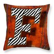 F Throw Pillow by Mauro Celotti