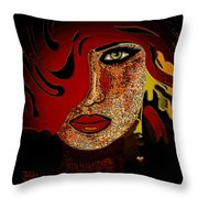 Face 10 Throw Pillow by Natalie Holland