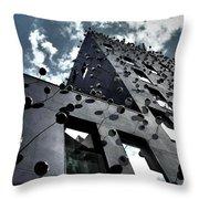 Fachada con los Ojos - Barcelona Throw Pillow by Juergen Weiss