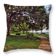 Fairhope Lower Park 2 Throw Pillow by Michael Thomas