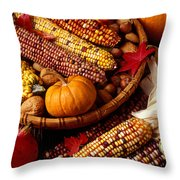 Fall Harvest Throw Pillow by Garry Gay