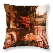 Fall In Lucerne Switzerland Throw Pillow by Susanne Van Hulst