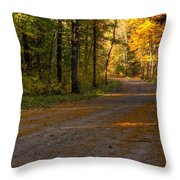 Fall Is Just Around The Corner Throw Pillow by Thomas Young