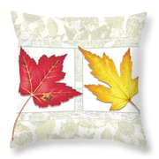 Fall Leaf Panel Throw Pillow by JQ Licensing