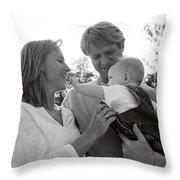 Family Portrait Throw Pillow by Michelle Quance