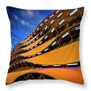 Fancy Cardiff Carpark Facade Throw Pillow by Meirion Matthias