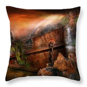 Fantasy - Ship Wrecked Throw Pillow by Mike Savad
