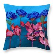 Fantasy Blues Throw Pillow by Michelle Wiarda