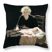 Fantine Throw Pillow by Margaret Hall