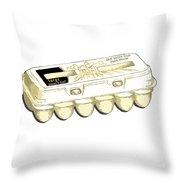 Farm Fresh Eggs Throw Pillow by George Pedro