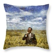 Farm Life - A Good Crop Throw Pillow by Nikki Marie Smith