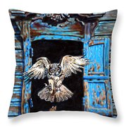 Fast Food Window Throw Pillow by John Lautermilch