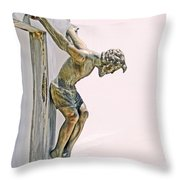 Father Forgive Them Throw Pillow by Al Bourassa