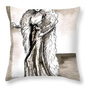 Feather Boa Throw Pillow by Mel Thompson
