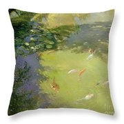 Featherplay Throw Pillow by Timothy Easton