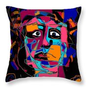 Feeling Blue Throw Pillow by Natalie Holland