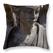 Female Statue Throw Pillow by Garry Gay