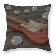 Fender Strat-o-spheres Throw Pillow by James Barnes