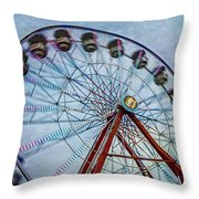 Ferris Wheel Throw Pillow by Susan Candelario