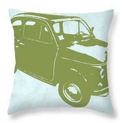 Fiat 500 Throw Pillow by Naxart Studio