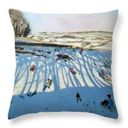 Fields of Shadows Throw Pillow by Andrew Macara