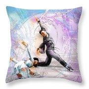 Figure Skating 02 Throw Pillow by Miki De Goodaboom