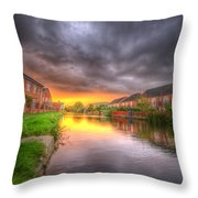 Fire And Storm Throw Pillow by Yhun Suarez