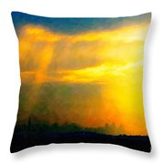 Fire In The City Throw Pillow by Wingsdomain Art and Photography