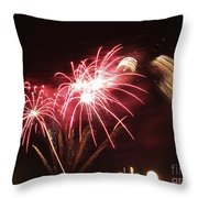 Firework Display Throw Pillow by Bernard Jaubert