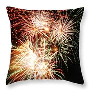 Fireworks 1569 Throw Pillow by Michael Peychich