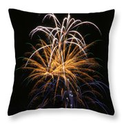 Fireworks 6 Throw Pillow by Paul Marto