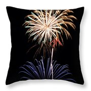 Fireworks  Abound Throw Pillow by Bill Pevlor