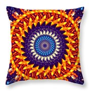 Fireworks Throw Pillow by Cheryl Young