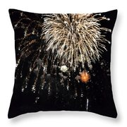 Fireworks Throw Pillow by Michelle Calkins
