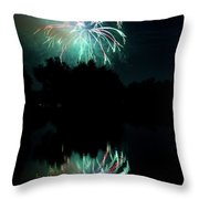 Fireworks On Golden Ponds. Throw Pillow by James BO  Insogna
