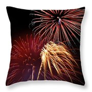 Fireworks Wixom 3 Throw Pillow by Michael Peychich