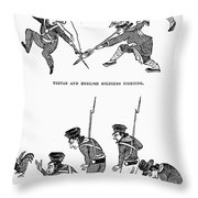 First Opium War: Soldiers Throw Pillow by Granger