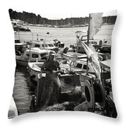 Fisherman Throw Pillow by Madeline Ellis