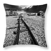 fishing boat graveyard 6 Throw Pillow by Meirion Matthias