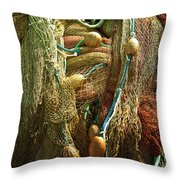 Fishing Nets Throw Pillow by Joana Kruse