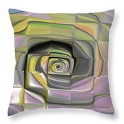 Fit Into The Box Throw Pillow by Deborah Benoit